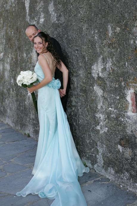 Matrimonio Abito Azzurro : Abiti da sposa azzurri