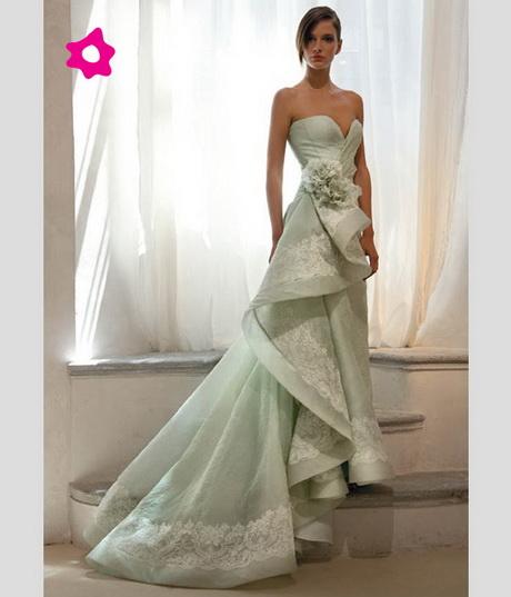 abiti da sposa verde