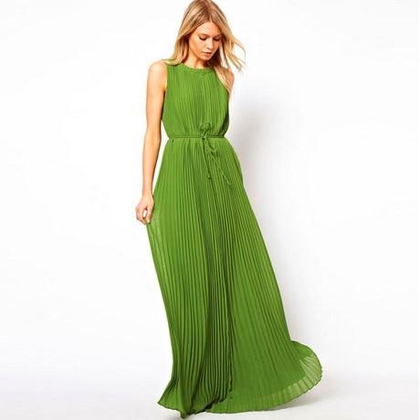 sale retailer 0240b 09388 Vestiti lunghi verdi