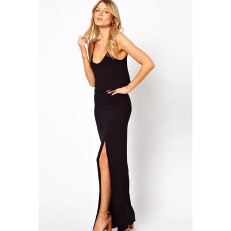 finest selection 72063 1b48d Vestito nero lungo con spacco