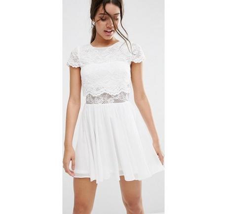 finest selection 2e8bb 383a3 Vestito bianco corto pizzo