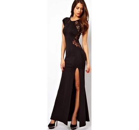 ddcac1c03580 Vestito elegante nero lungo