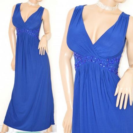 6a4dc3f10c3d ABITO LUNGO donna BLU vestito damigella da cerimonia cristalli perline  elegante abito da sera E20 immagini