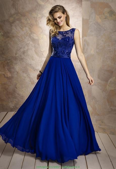 2fd6e09cf0a1 Nuova Moda Vestiti da Damigella Blu Elettrico Abito da Cerimonia Lungo  Renata Arce Blu Elettrico Merlettat