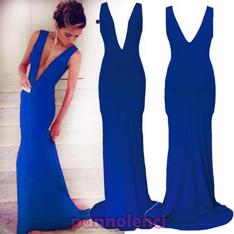 the best attitude 24867 e051e Vestito elegante donna blu
