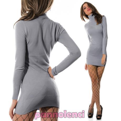 3323c7266d80 Caricamento dell immagine in corso Vestito-Donna-Mini-Abito-misto-lana  -AMY-GEE-