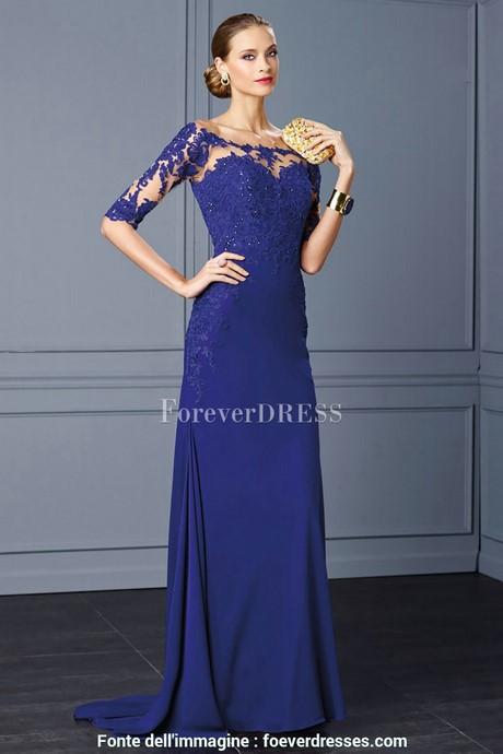 hot sales d7cf2 968b8 Vestiti da sera lunghi blu